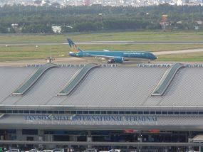 イビスサイゴンホテルから見渡すタンソンニャット空港